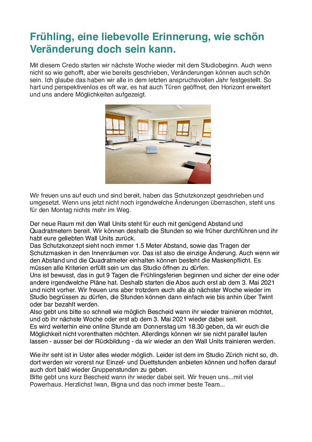 Pilates in Zürich und Uster – Wir bringen dich nach vorne!